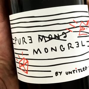 Pure Mongrel by Untitled Wines - bottle in hand